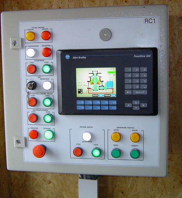 Пульт управления конусной дробилки HCU